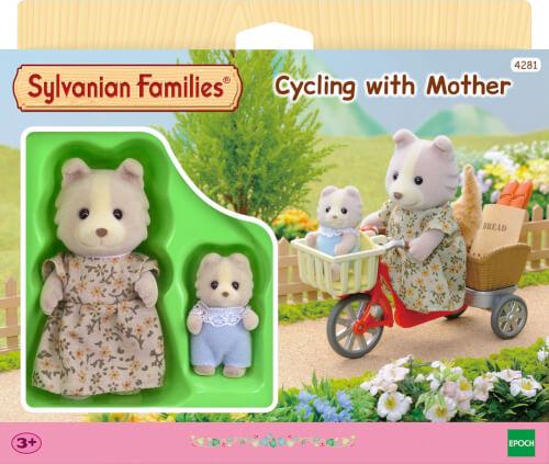 Sylvanian Families Fahrradfahren mit Mutter