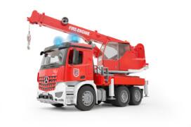 Bruder 03675 MB Arocs Feuerwehr Kran, ab 4 Jahren, Maße: 52 x 18,5 x 28 cm, Kunststoff